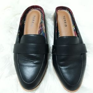 Torrid faux leather loafer mules 9W